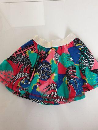 Flare Skirt usia 3 tahun (rok mini)