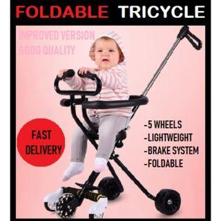 🚚 Lightweight Foldable Tricycle / Portable Stroller