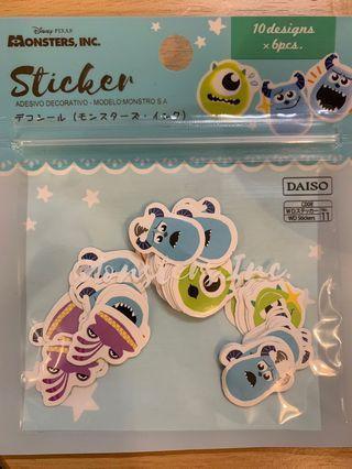 (包平郵) Disney Monster Stickers 怪獸公司 貼紙