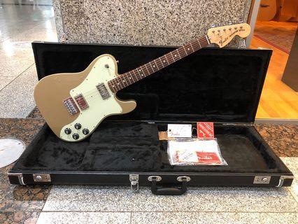 Fender Chris Shiflett Telecaster Deluxe Electric Guitar w/Case, Rosewood FB, Shoreline Gold