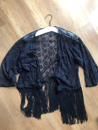 H&M Divided Bohemian Navy Outer