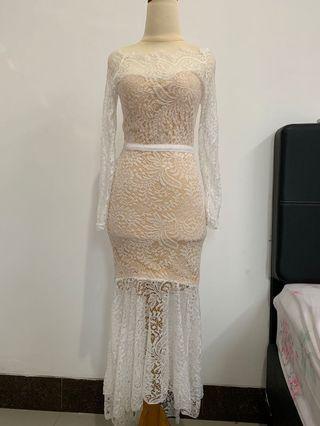 White Lace Dress / Dress Putih