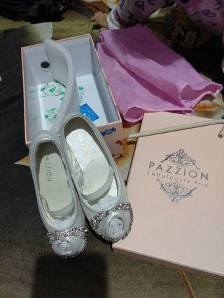 ( NEW ) FLATSHOES PAZZION sandal anak mewah branded sendal anak cewek perempuan sepatu flat shoes pesta ex gift kado new baru