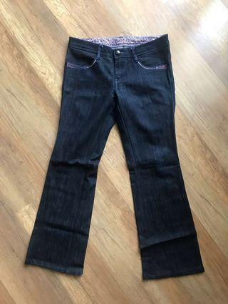 Original Levi's Ladies Jeans Limited Edition Dark Blue Bootcut