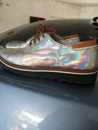 Iridescent Oxford Shoes Made in Italy