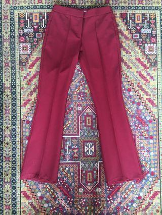 ASOS Red Flared Pants