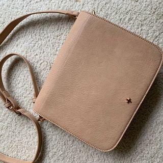 White Fox Boutique nude crossbody bag