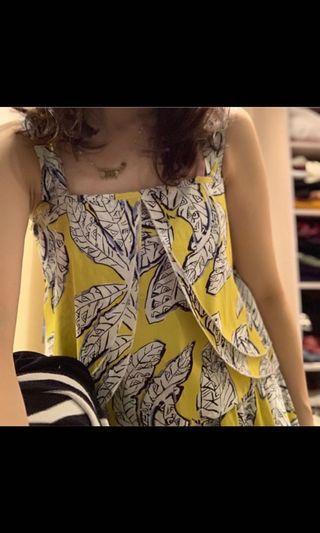 黃色花卉長裙套裝🌼🌼🌼