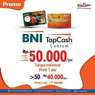 Print Emoney BNI Tap Cash Custom