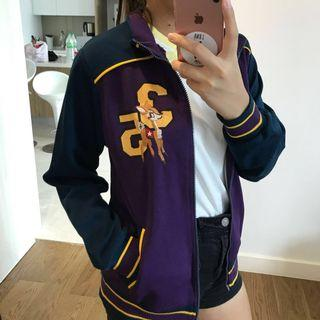 purple and blue bambi baseball jacket