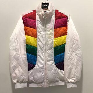 gap rainbow colourblock windbreaker jacket