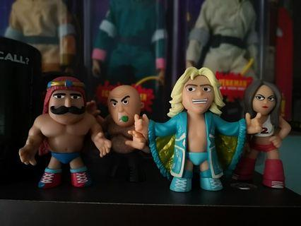 🚚 Funko Wwe Mystery Minis mini George The Animal Steel, Nikki Bella, Ric Flair and Iron Sheik.