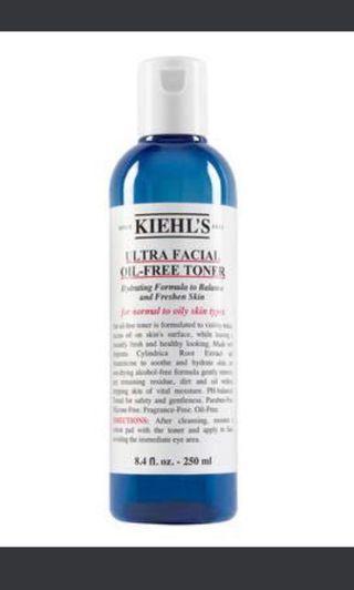 全新 Kiehl's Ultra Facial Oil Free Toner 特效清爽保濕爽膚水 250ml