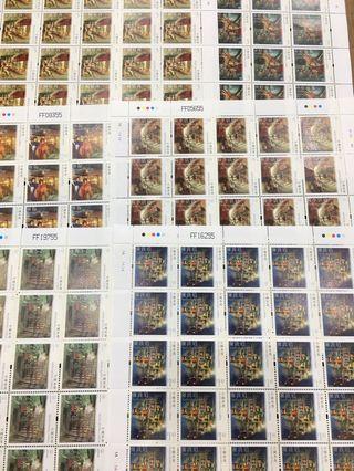 中國香港郵票 香港特色街道 發行日期:二0一0年六月二十四日