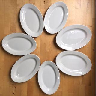 Porcelain white plates