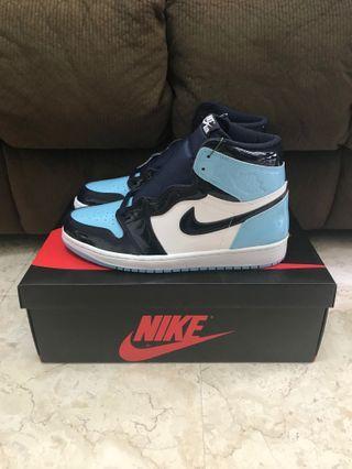 6ed6281a030c08 US 10 Nike Air Jordan 1 UNC Patent (W)