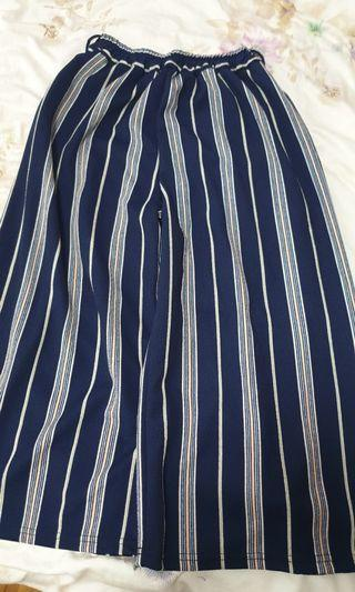 Brand new blue strips loose pants (office and casual)..Has elastic band, so it is free size. Very comfortable.