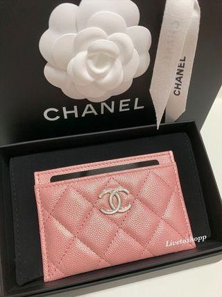 💕Chanel 19S Iridescent Pink Chanel Card Holder