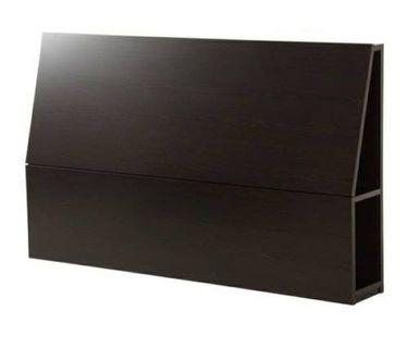 ikea Oppdal HEADBOARD With STORAGE COMPARTMENT - Black/Brown (QUEEN)