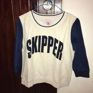Skipper Navy White Shirt