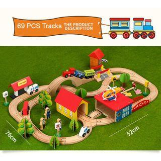 🚚 Wooden Toy Rail Electric Train