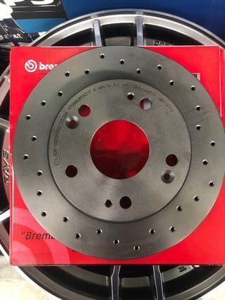 Honda Civic FD1-2 Rear Disc rotor Brembo Drill