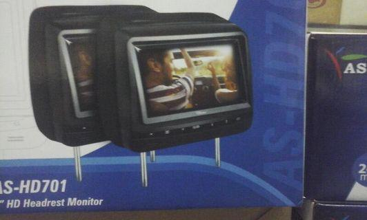 Headrest monitor for car
