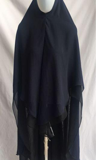 Khimar Cerutty navy and black