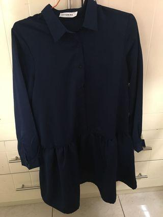 Cottonink Navy Darla Dress