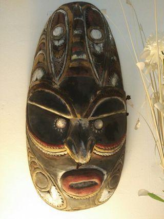 Vintage wooden mask