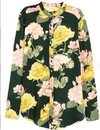 BEST SELLER RESTOCK !! H&M long sleeved blouse - Dark green/floral