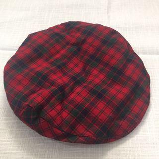 🚚 紅綠格紋復古小偷帽