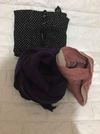 3⃣️條不同款、長度頸巾