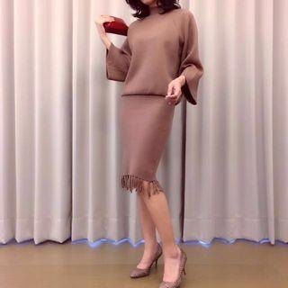 🚚 《朋友的店》乾燥玫瑰軟毛套裝(偏棕)