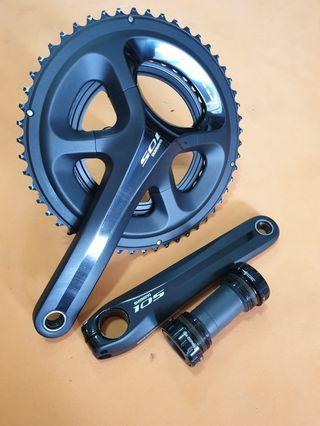 Crankset Shimano 105 FC-5800 52-36 11S 170mm with BBR60 English BSA Bottom Bracket