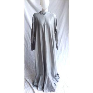 Ruffle down Dress - silver grey