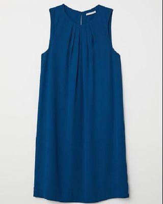 H&M SHORT SLEEVELESS DRESS - Petrol