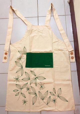 🚚 米色雅緻系列廚房圍裙  布藝圍裙 半身圍裙 棉麻布藝  烘焙圍裙 手工藝圍裙