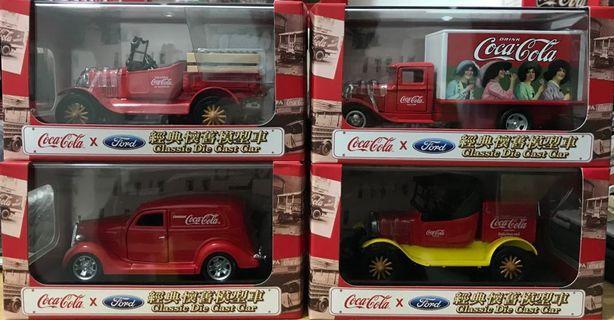可口可樂車 一套四架