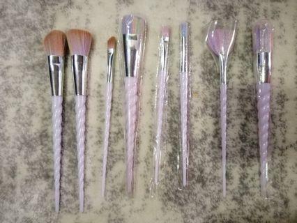 White unicorn Makeup Brushes
