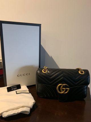 0dd4ef67429 Gucci Marmont Small (Black) Authentic