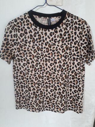H&M Leopard Shirt [FREE PAPER BAG]