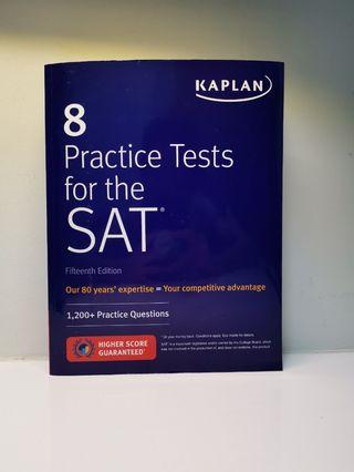 🚚 8 Practice Tests for the SAT, Kaplan 2018 15th Edition