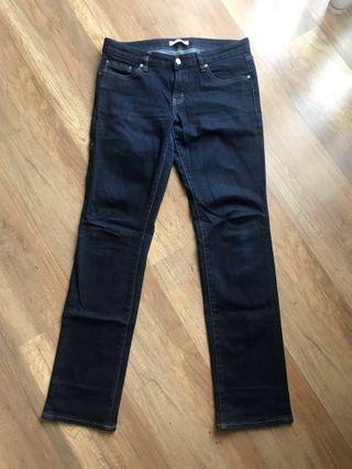 Uniqlo Dark Blue Jeans Size 28 (Women, Straight)