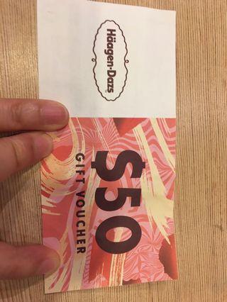Haagen-Dazs $50 Gift Voucher
