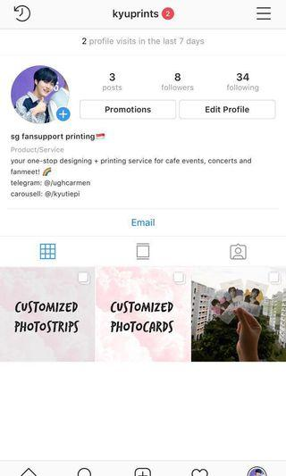 [NEW] Instagram Page for Fansupport Printing 💗