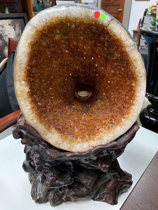 🚚 Super Rare USA 🇺🇸 Imported Unheated Citrine Crystal Cave