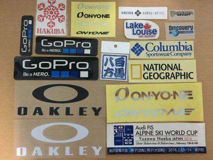 極限運動貼紙 戶外貼紙 滑雪貼紙 潛水貼紙 登山車貼紙 滑板貼紙 潮牌貼紙