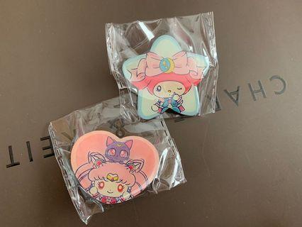sailor moon x my melody pin badge