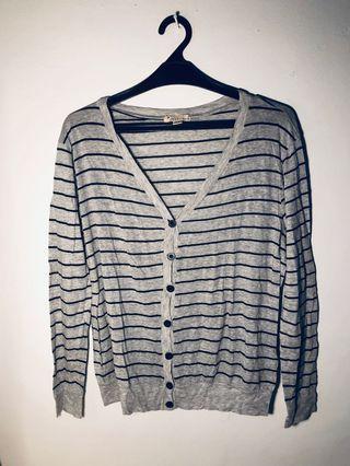 Cardigan Grey Stripe